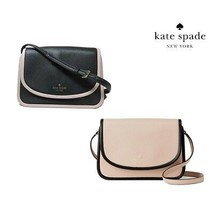 NWT KATE SPADE NEW YORK Ward Place Ivy Crossbody Bag Rose Black 5388 Col... - £77.95 GBP+