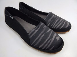 Sanuk Gore-Geous Black / Stripe Women's Casual Sandals Shoes Size US 7 M (B)