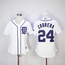 Women's Miguel Cabrera Jersey #24 Detroit Tigers Baseball MLB Jerseys White - $44.99