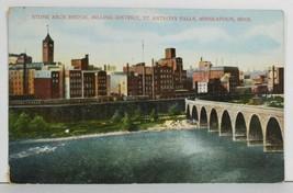 MN Stone Arch Bridge Milling District Minneapolis Minnesota Postcard P4 - $8.95