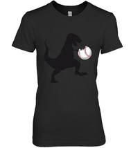 Dino T Rex Hates bites Softball Baseball Ball T Shirt - $19.99