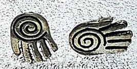 NICE Celtic hand spiral Sterling Silver Stud Earring Jewelry - $19.75