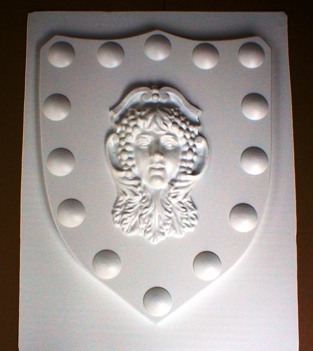 Mold 1504   24x30x2.5 shield w goddess face