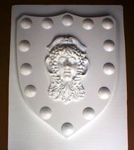 Medieval Celtic Renaissance Mold Huge 24x30x2 Goddess Shield in Plaster Concrete image 1