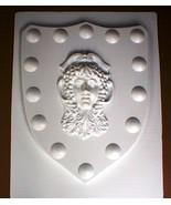 Medieval Celtic Renaissance Mold Huge 24x30x2 Goddess Shield in Plaster ... - $79.99