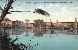 Button Shop Glendale Nashawannuck Easthampton Massachusetts 1910c postcard - $6.93