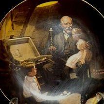 """Grandpa's Treasure Chest"" by Norman Rockwell Decorative Plate AA19-1668 Vinta image 3"
