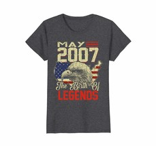 Dad Shirts -  2007 MAY Vintage The Of Birth Legends Aged 11 Years Old Wowen - $19.95+