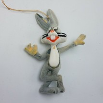 Vtg 1977 BUGS BUNNY Flocked Christmas Tree Ornament Warner Bros Looney T... - $16.95