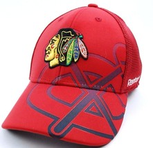 CHICAGO BLACKHAWKS  REEBOK TX75Z NHL SECOND SEASON FLEX FIT HOCKEY CAP/HAT - €16,97 EUR