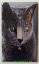 Azul Ruso Cat Light Switch Power Duplex Outlet Wall Cover Plate Home decor image 3