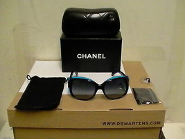 Nuevo Gafas Sol CHANEL Mujer 5227-H C.1218/3C Azul Gris 58mm Cuadrado Or... - $267.53