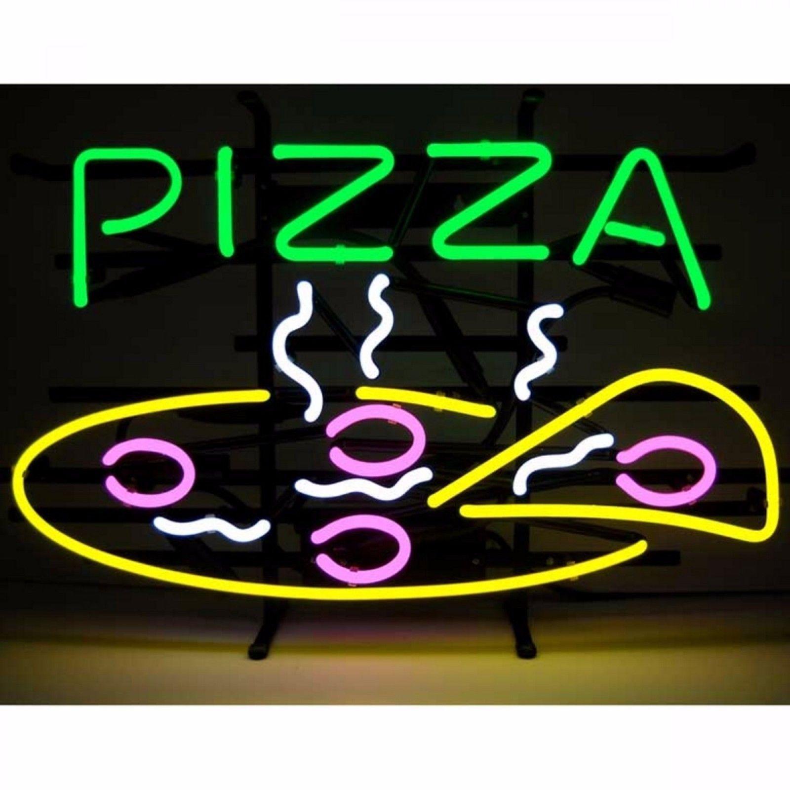 "New Pizza Shop Hamburger Business Open Man Cave Neon Light Sign 24""x20"""