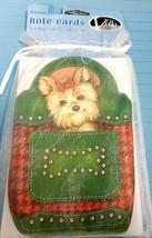 Note Cards Yorkie Terrier Puppy Dog Blank Inside 8 Cards Envelopes Voila - $9.50
