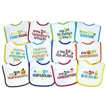 Neat Solutions' 12-Pack Baby's 1st Year Holiday Bibs