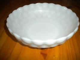 White milk glass scalloped polka dot pattern bowl - $19.80