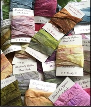 Hand Dyed Ribbons 4yds assorted colors cross stich accessory Shepherd's ... - $6.00