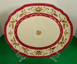 Fitz And Floyd Woodland Holiday Oval Cookie Platter Euc With Box Christmas - $29.65