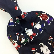 ADDICTION PENGUIN SANTA BLACK WHITE Christmas Men's Necktie tie #XP1-228... - $19.79