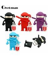 Civetman® Cartoon Ninja. USB Stick Flash Memory Naruto 8GB 16GB 32GB - $6.02+