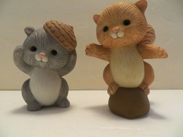 "Avon Best Buddies Porcelain Figure Collection: ""Squirrels Clowning Around"" - $14.84"