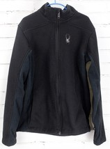 SPYDER Soft Shell Jacket Youth Boys Size 16 XL Black Full Zip Lightweigh... - $45.54