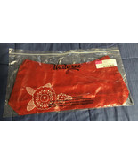 Brand New - THIRTY-ONE Fitted Purse Skirt - Red w/ Embroidery Flower - $8.01