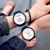 Couple Watch Style Simple Trend Creative Students Vintage Waterproof Wri... - $11.99