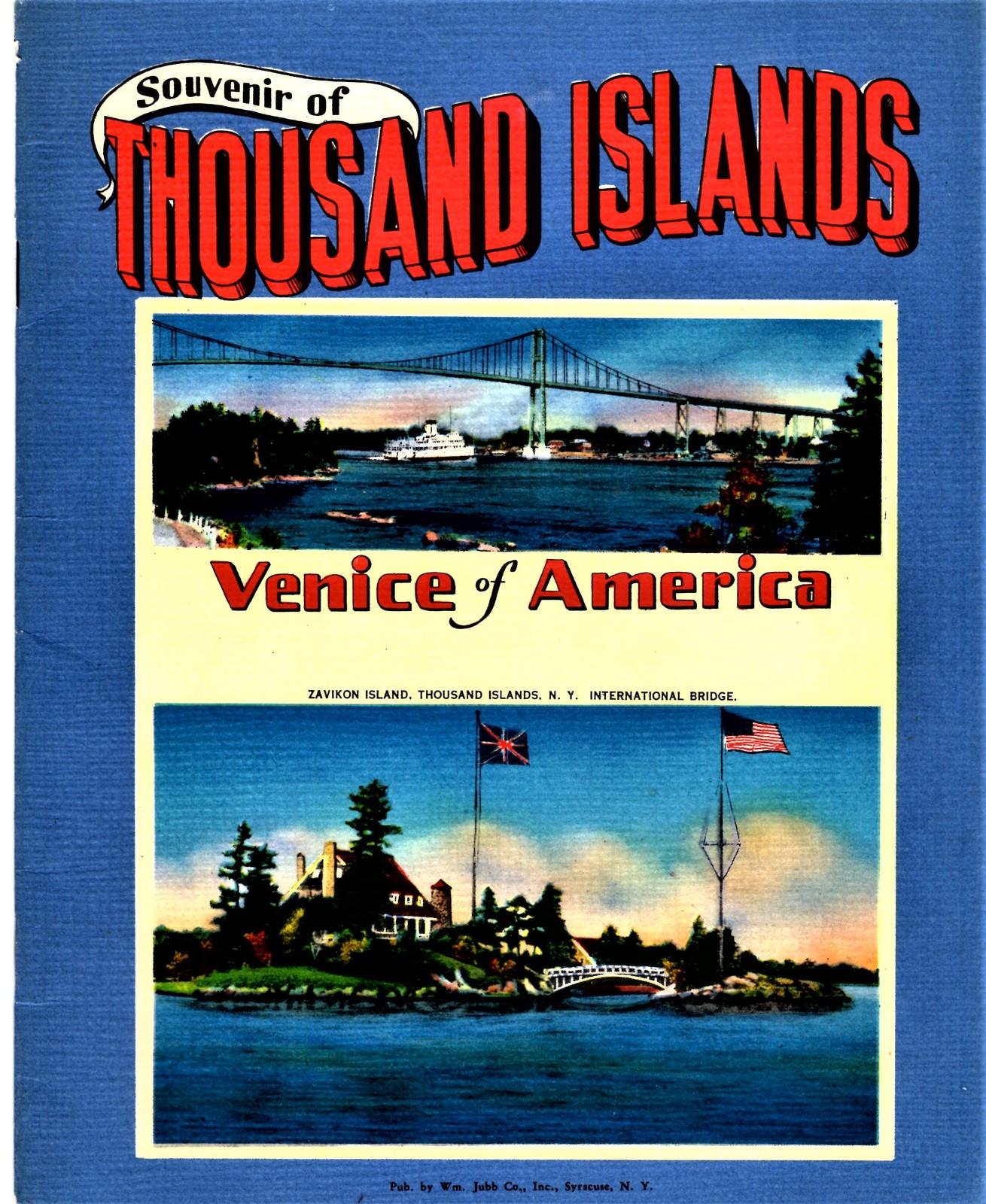 Thousand Islands Venice Of America Book & Souvenir Photo Booklet