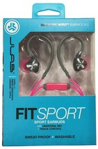 JLab Audio Fit2 Sport Earbuds, Sweatproof, Water Resistant with in-Wire Custom