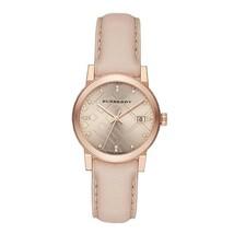 NEW Burberry  BU9131  Brown / Pink Leather Analog Quartz Women's Watch - $442.15 CAD