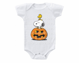 Snoopy Halloween Onesie Shirt Pumpkin - $15.00