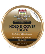 African Pride Black Castor Miracle Hold & Cover Edges - Black 2.25.oz - $9.11