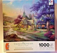 """Thomas Kinkade Painter of Light  """"CLOCKTOWER COTTAGE""""  Ceaco 1000 Piece ... - $16.66"""