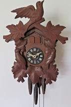VINTAGE CUCKOO HALL CLOCK BLACK FOREST GERMANY WORK WELL - $280.00