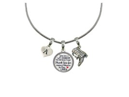 Custom Drill Team Coach Thank You Gift Silver Necklace Jewelry Choose In... - $14.87