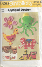 Vintage Simplicity Pattern #6320-Applique Design Transfer Patterns for A... - $4.95