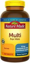 Nature Made Multi for Him - 300 Tablets MENS PREMIUM MULTIVITAMIN!  - $28.70