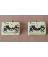 """Automobile Peugeot 1901 Gold Tone Yellow Cufflinks 5/8"""" x 3/8"""" Made in F... - $20.84"""