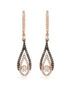 fancy Earrings 18kt rose gold 0.75Ct GENUINE DI... - $850.00