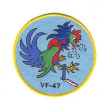US Navy VF-47 Vertical Fighter Squadron Forty Seven Military Patch Rooster - $11.87