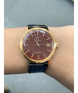 Vintage Gold Men's Watch 18k Zodiac Automatic Wrist Watch - $1,723.06