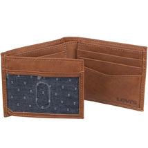 Levi's Men's RFID Extra Capacity Traveler Credit Card ID Bifold Tan Wallet (Tan) image 4