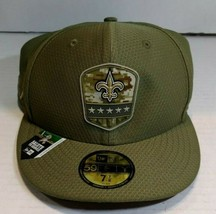 New Orleans Saints New Era 2019 Salute to Service 59FIFTY Fitted Hat - NWT - $18.99