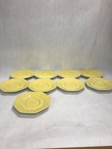 Lot 9 saucers only Vintage Independence Ironstone Interface JAPAN yellow... - $42.56