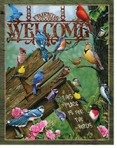 Welcome This Place is For The Birds Birding Rustic Wall Art Decor Metal Tin Sign - $15.99