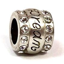 Brighton Dream Bead Charm ,J95032, Gebürstetes Silber Verzierung, Steine... - $15.86