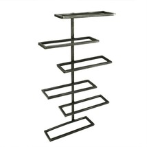 "CC Home Furnishings 20"" Dark Brown Tribeca Wall Wine Rack - 6 Bottle Sto... - $77.95"