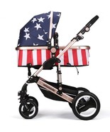 Luxury Baby Stroller 2 in 1 High-Landscape Pram Portable Folding baby Ca... - $268.00