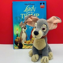 Walt disney store bean bag plush beanbag stuffed animal Lady Tramp dog book lot - $23.05